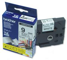 Brother P-touch Tape, schwarz/weiss, 9mm x 8m